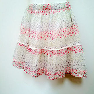 ローリーズファーム(LOWRYS FARM)のローリーズファーム 花柄フレアスカート 送料無料(ミニスカート)