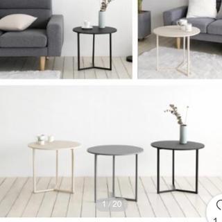 韓国大人気!北欧風円型テーブル(ローテーブル)