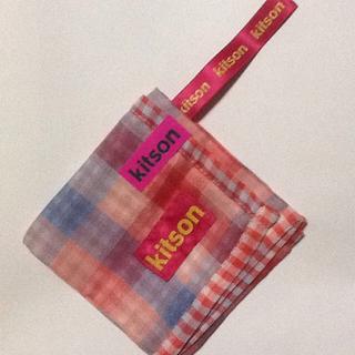 kitson♪紐付きハンカチ♪大判♪35×35cm♪紐9.5cmです。(その他)