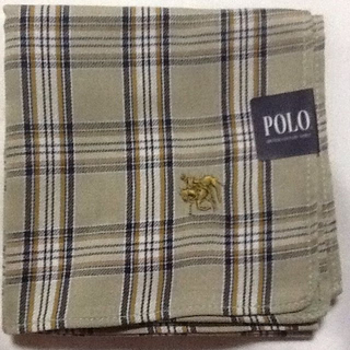 ポロラルフローレン(POLO RALPH LAUREN)のポロ♪POLO♪グリーン♪ハンカチ♪チェック柄(ハンカチ/ポケットチーフ)