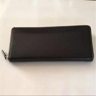 ハルミラノ(HALL MILANO)の本革 バッファローレザー  ラウンドファスナー 長財布  ラスト1点(長財布)