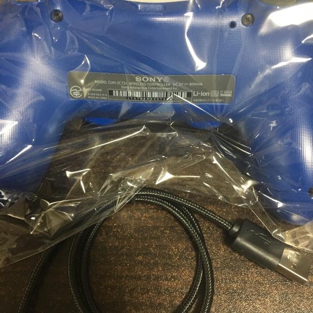 任天堂(ニンテンドウ)のps4 コントローラー  ウェイブブルー新型 エンタメ/ホビーのテレビゲーム(家庭用ゲーム本体)の商品写真