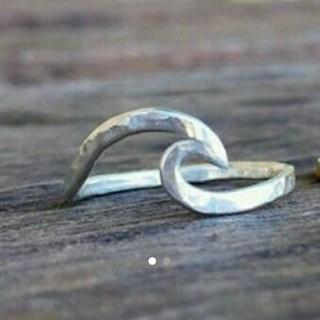 ウェーブリング  14-15号 シルバー(リング(指輪))