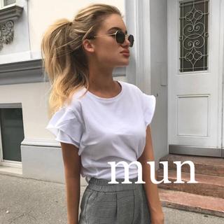 ザラ(ZARA)のZARA フリル Tシャツ(Tシャツ(半袖/袖なし))