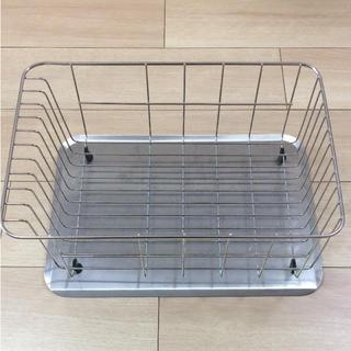 ムジルシリョウヒン(MUJI (無印良品))の無印 ステンレス 水切りかご 水切りトレー(収納/キッチン雑貨)