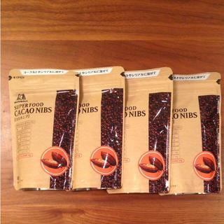 モリナガセイカ(森永製菓)のカカオニブ 4つセット cacao nibs  森永 スーパーフード(その他)