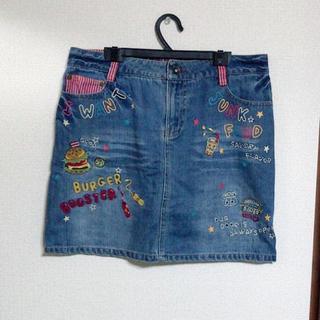 ラフ(rough)のrough ラフくんのデニムスカート(ミニスカート)