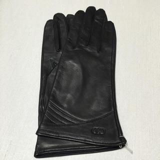 クリスチャンディオール(Christian Dior)の【新品 CD】超可愛い♡革手袋 黒(手袋)