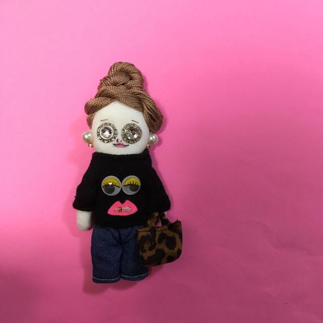 ドールチャーム   変顔ニット ハンドメイドのアクセサリー(チャーム)の商品写真