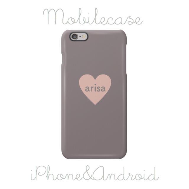 スナイデル iphone7 | 名入れ可能♡グレージュピンクハート柄スマホケース♡iPhone以外も対応機種多数の通販 by welina mahalo|ラクマ