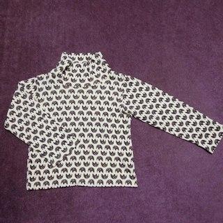 シマムラ(しまむら)のm【美品】しまむら バースデー ハイネック長袖Tシャツ キッズ110cm(Tシャツ/カットソー)