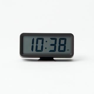 ムジルシリョウヒン(MUJI (無印良品))の無印良品 デジタル時計 小 (アラーム機能付) ブラック 型番:MJ‐DCSB1(置時計)