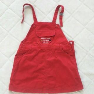 エル(ELLE)のELLE 赤デニムジャンパースカート 95(ワンピース)