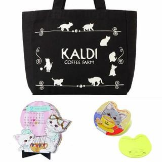 カルディ(KALDI)のカルディ ネコの日バッグ バッグ 付箋 カレンダー(トートバッグ)