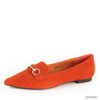 ランダ(RANDA)のRANDA ランダ ポインテッドトゥ ビット ローファー フラット シューズ(ローファー/革靴)