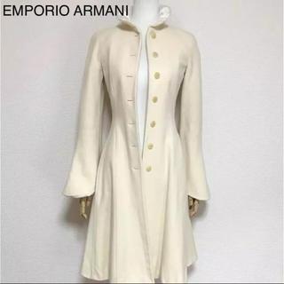 エンポリオアルマーニ(Emporio Armani)の正規品 エンポリオアルマーニ ウール コート オフホワイト(ロングコート)