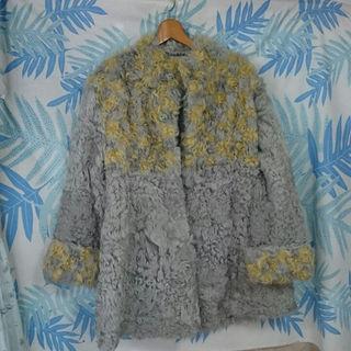 羊 毛皮 コート(毛皮/ファーコート)