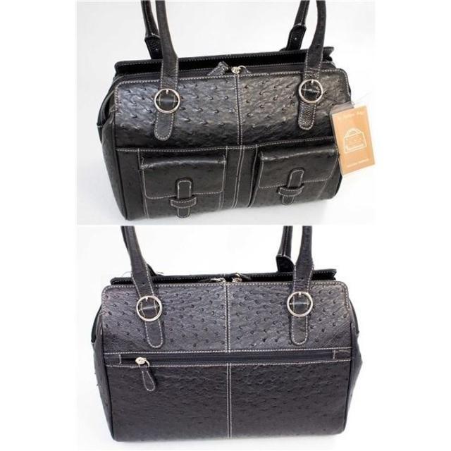 d8c8f7d594ff OSTRICH(オーストリッチ)のPreciousプレシャス オーストリッチ本物 トートバッグ黒 新品 レディースのバッグ