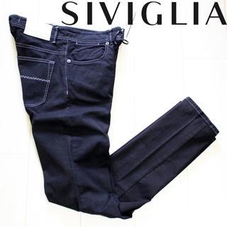 新品 SIVIGLIA ストレッチ ブラックスキニーデニム 29