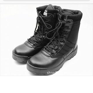 ミリタリーブーツ SWAT仕様 作業靴  サイドジッパー(ブーツ)