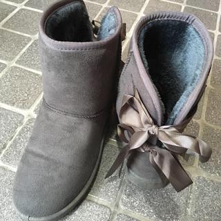 ♡ リボン付きムートンブーツ ♡(ブーツ)