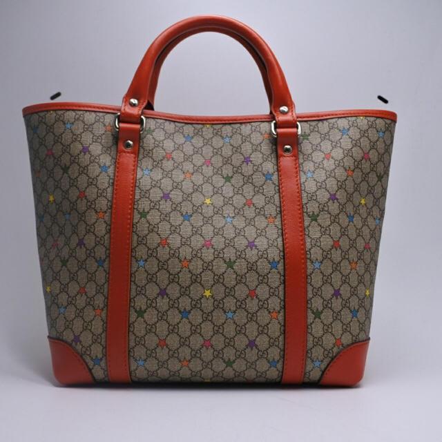 02d32a7539bb Gucci(グッチ)のGUCCI グッチ キッズライン ハンドバッグ スター 星 ベージュ オレンジ レディースの