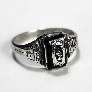シルバー オニキス ブラックストーン(リング(指輪))