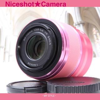 ニコン(Nikon)の🌸ゆうなさま専用🌸Nikon1 30-110望遠レンズ🌸J2ピンクカラー(レンズ(ズーム))