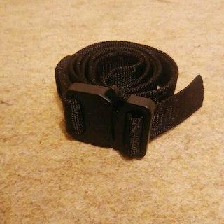 ザノースフェイス(THE NORTH FACE)のミリタリー ローラーコースターベルト ブラック コブラバックル  2.5cm(ベルト)