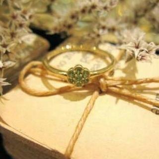 ジュピターゴールドレーベル(jupiter GOLD LABEL)のJupiter K10 カラーストーン soleil リング(リング(指輪))