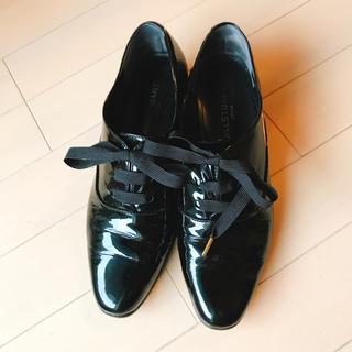ジルスチュアート(JILLSTUART)のジルスチュアート 黒 エナメル シューズ(ローファー/革靴)