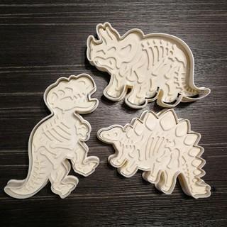 [新品]恐竜 クッキー 型 3種類セット(調理道具/製菓道具)