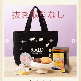 カルディ(KALDI)のKALDI カルディ ネコの日バッグ 猫の日バッグ 福袋 抜き取りなし(トートバッグ)