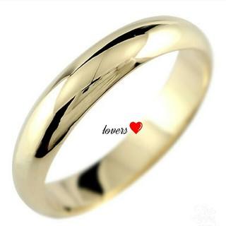 送料無料 17号 ゴールド サージカルステンレス シンプル甲丸ラブリング 指輪(リング(指輪))