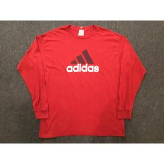 アディダス(adidas)のadidas アディダス カットソー ロンT レッド(Tシャツ/カットソー(七分/長袖))