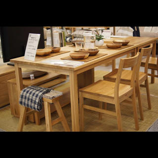 ◇ MUJI 無印良品 ウォールナット無垢材 ダイニングテーブル w80