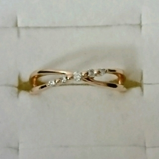 ヨンドシー(4℃)の4°Cダイヤピンキーリング(リング(指輪))