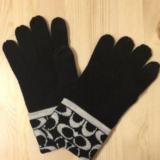 コーチ(COACH)のCOACH コーチ ニットグローブ 手袋 アウトレット ブラック 黒(手袋)