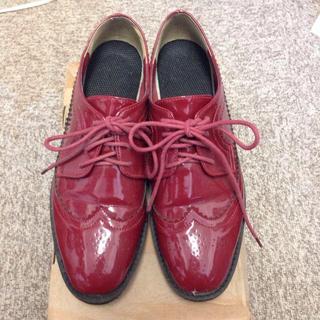 ランダ(RANDA)のRANDA 厚底シューズ(ローファー/革靴)