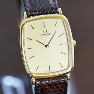 オメガ(OMEGA)の美品 オメガ デビル スクエア ゴールド メンズ Omega (腕時計(アナログ))