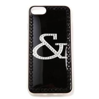 アンドバイピーアンドディー(&byP&D)の新品 &byP&D ラインストーンロゴ iPhone6/7ケース ブラック 黒(iPhoneケース)