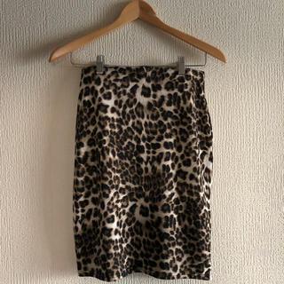 エーディージー(A.D.G)のA.D.G leopard skirt (ひざ丈スカート)