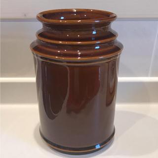イッタラ(iittala)の美品!SCOPE スコープ キッチンツールキャニスター 170mm ブラウン(収納/キッチン雑貨)