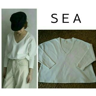 シー(SEA)のsea ヴィンテージ  vintage ルーズVネック TEE(Tシャツ(長袖/七分))