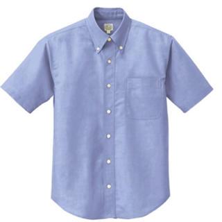 アイトス(AITOZ)の作業着 半袖シャツ サックス(Tシャツ/カットソー(半袖/袖なし))