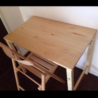 ムジルシリョウヒン(MUJI (無印良品))の無印良品 折りたたみテーブル&チェアー(折たたみテーブル)