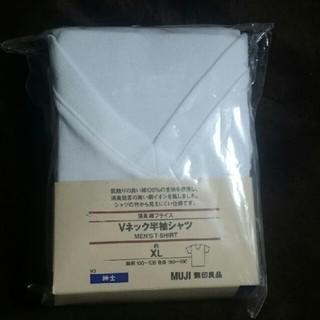 ムジルシリョウヒン(MUJI (無印良品))の無印良品 Vネック半袖シャツ XL(Tシャツ/カットソー(半袖/袖なし))