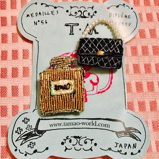 タマオ(tamao)のtamao★ハンドメイド刺繍ブローチ(ブローチ/コサージュ)