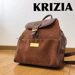 古着屋購入 KRIZIA リュック  レオパード柄 0222