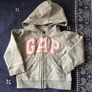8c7a2b7fe54bb ギャップキッズ(GAP Kids)のGAP フード付き パーカー 長袖 グレー 80cm(トレーナー